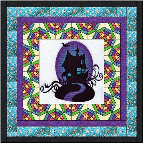 Halloween Quilt Kits (Quilt Kit Halloween Haunted House Applique Precut Ready to)