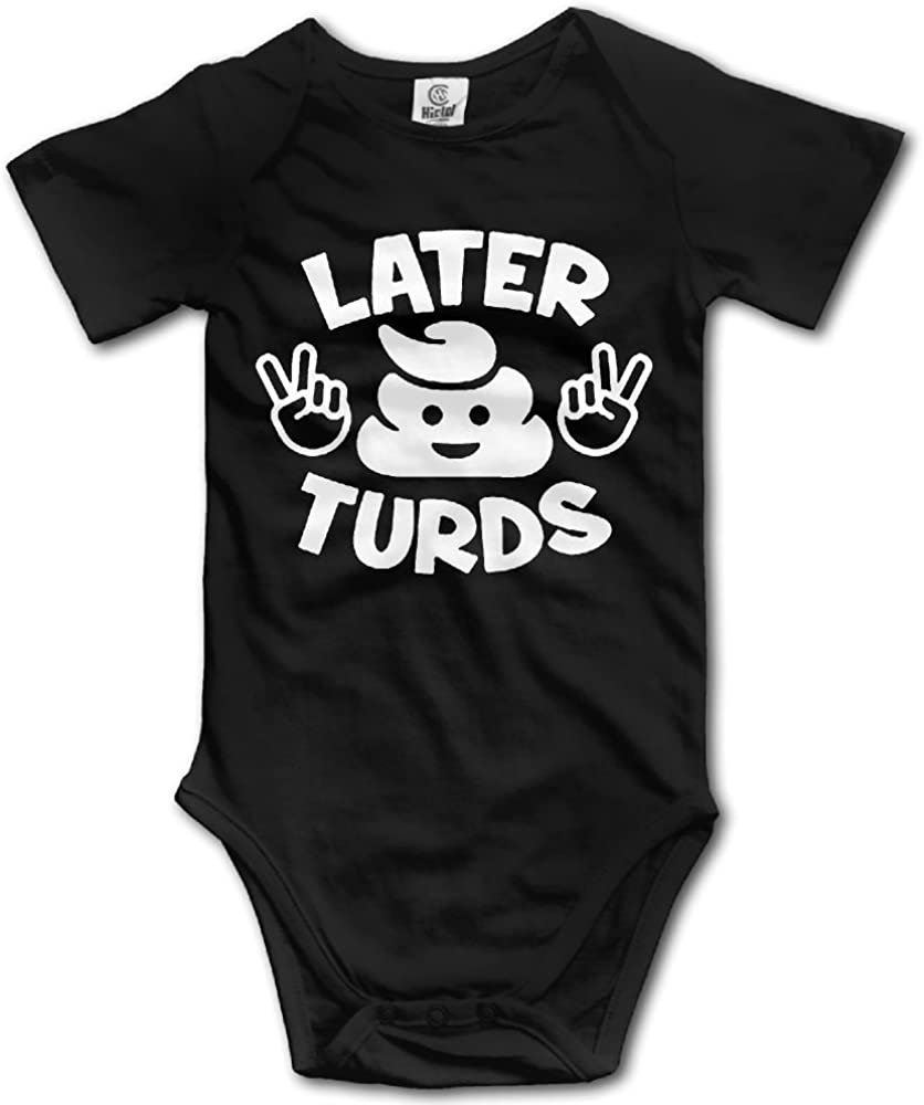 SmallHan Later Turds Unisex Funny Infant Romper Baby Boy Play Suit Black