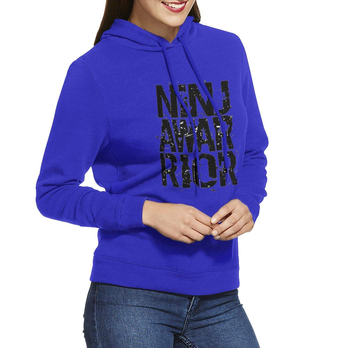 Womens Hoodies Ninja Warrior Inspiring Girl Casual Hooded ...