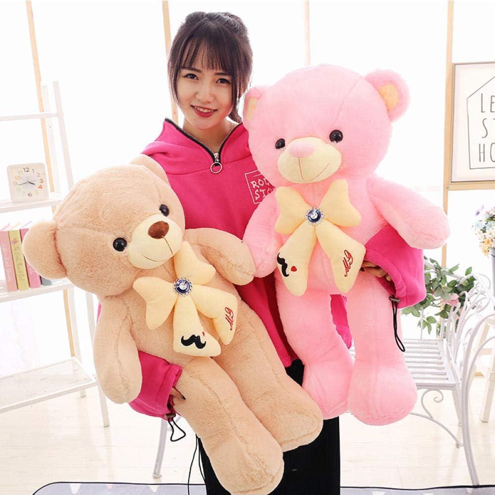 ZZKHSM Silly bow tie big bear doll plush toy cute cartoon birthday gift teddy bear pillow-d B