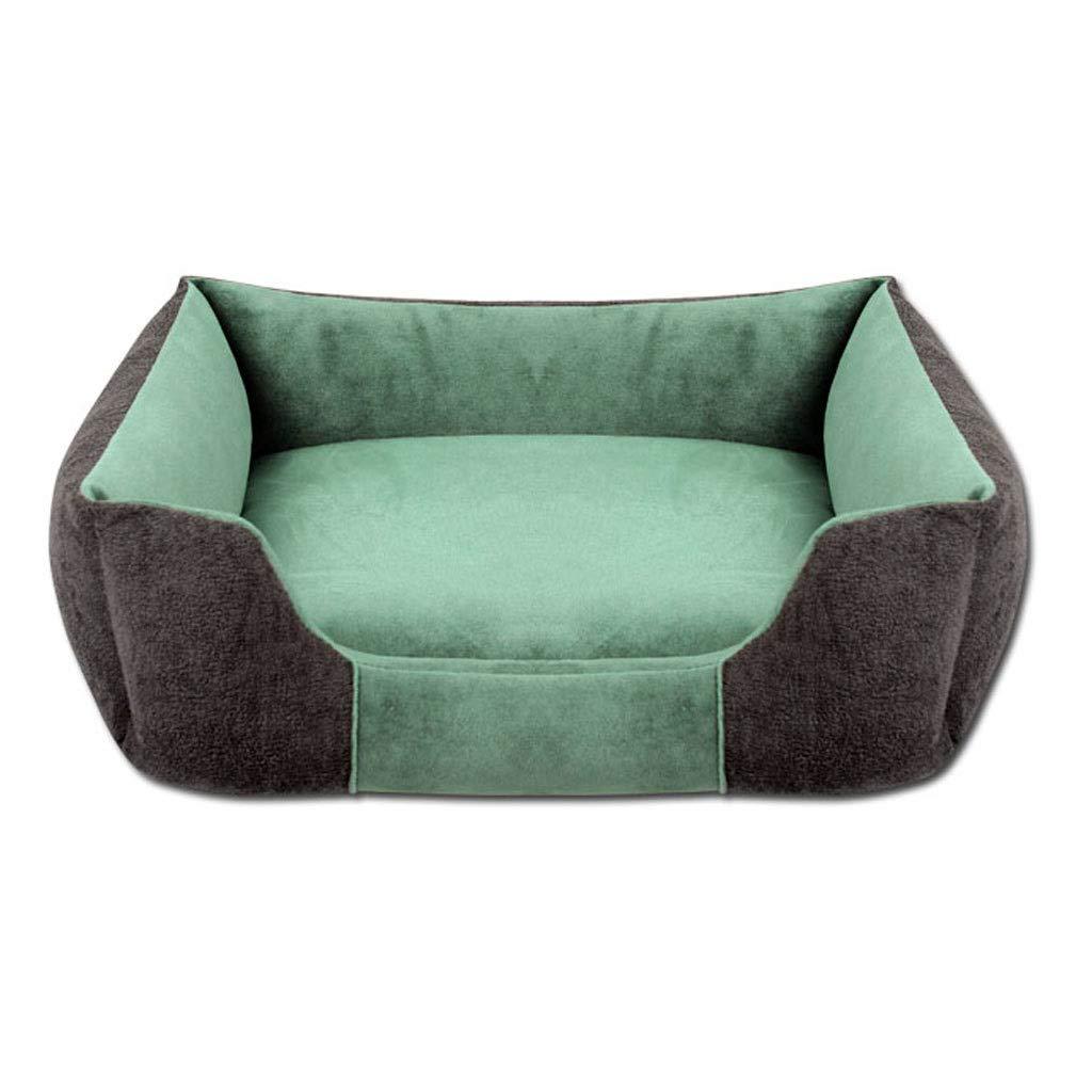 Green 55×45cmVelvet Sofa Pet Nest, Household golden Hair Small Medium Large Cat Dog Dualuse Bed, Four Seasons Universal NonSlip Pet Mat (color   Green, Size   55×45cm)
