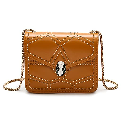 675260830461 Amazon.com  Ladies Shoulder Crossbody Bags For Women Leather Handbags Women  Bag Small Rivet Bag Black 1  Sports   Outdoors