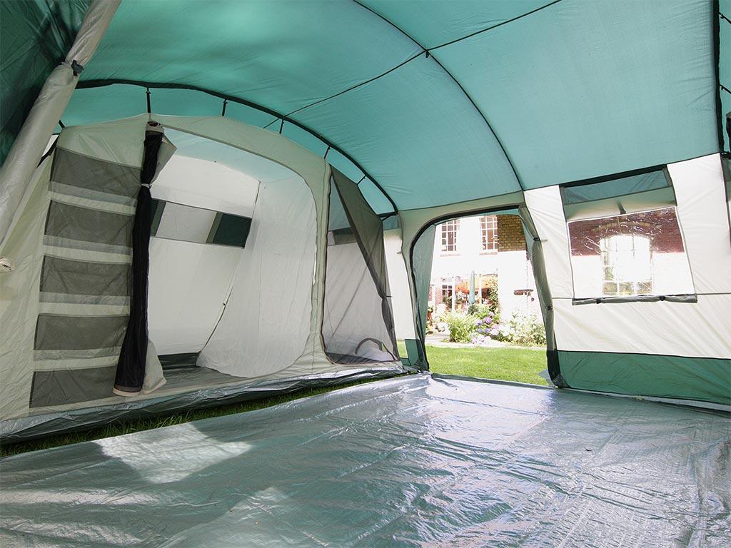 Zelt Mit 3 Kabinen : Skandika hurricane personen familien zelt grün