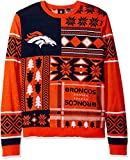NFL Cleveland Browns Patches Ugly Sweater, Orange, Large