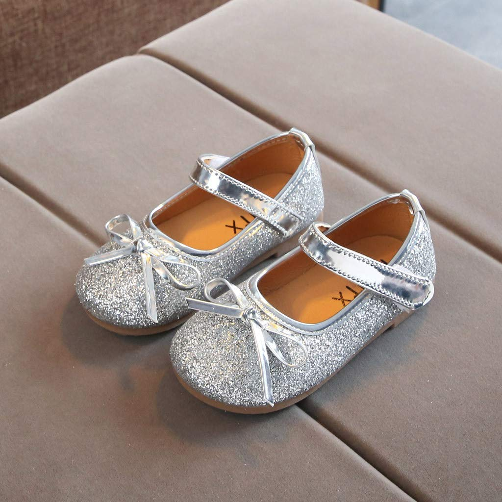 LIKESIDE Princess Slipper Flat Soft for Baby Silver