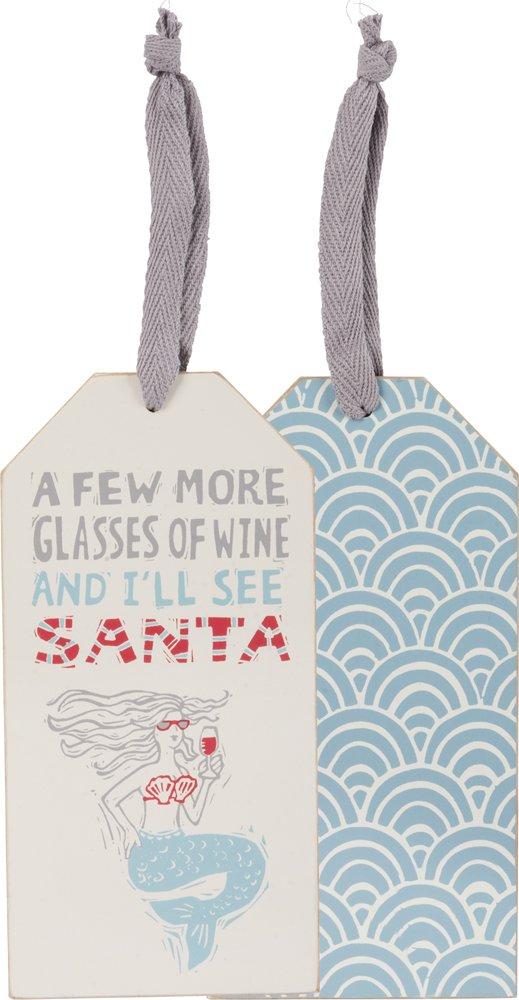 Bottle Tag - See Santa, Set of 3