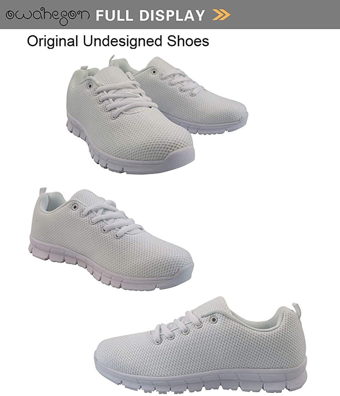 Owaheson Lace-up Sneaker Training Shoe Mens Womens Flying Fat Bees