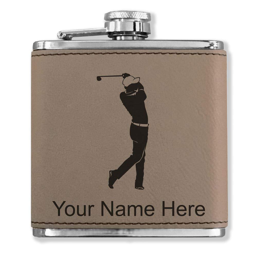 珍しい フェイクレザーフラスコ – – Golfer Golfing – B0722K3RVW カスタマイズ彫刻Included (ライトブラウン) Golfer B0722K3RVW, Brand Cosme MAM:a95aeea0 --- a0267596.xsph.ru