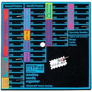 Azul pluma My Pad para máquina de agujas y aguja Organizador
