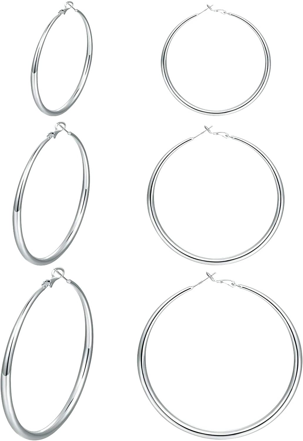 Details about  /Silver Organic Hoop Earrings Solid Sterling Silver 925 Hallmarked Hoops