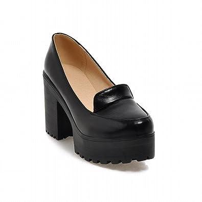 Super Amazon.com | Show Shine Women's Fashion Platform High Chunky Heel  QP02