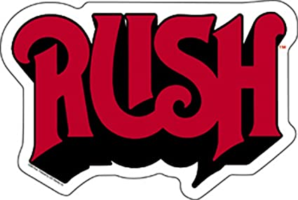 Licenses products rush logo sticker