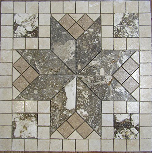 24-tumbled-travertine-and-volcano-limestone-mosaic-medallion-floor-or-wall-tile-art