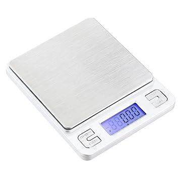 Joyería de alta precisión TBBSC escala de pesaje digital bolsillo báscula de cocina alimentos: Amazon.es: Oficina y papelería