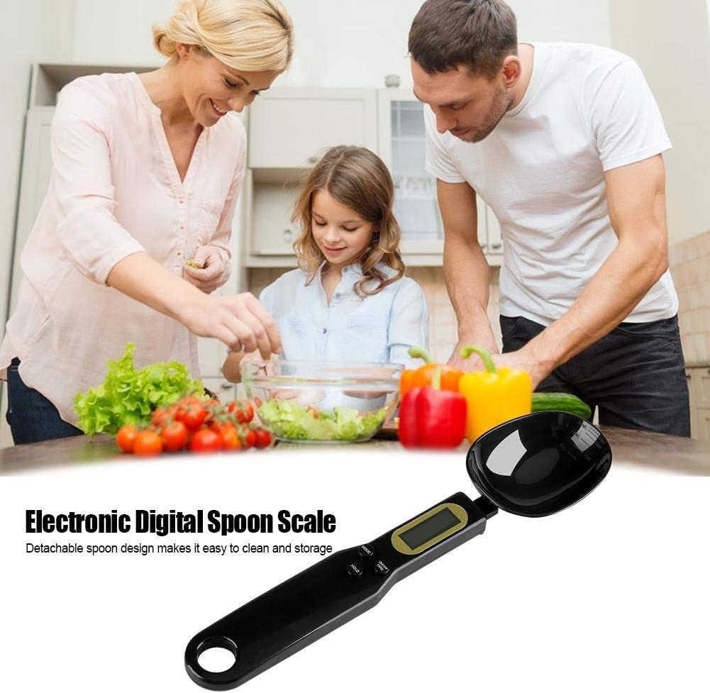 0,1 g Balanza electr/ónica Digital LCD de la Cocina de la medici/ón de cucharas NOBRAND Port/átil de 500 g Negro