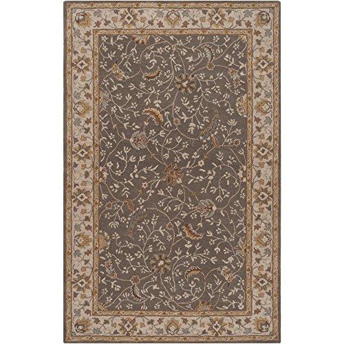 Surya CAE1093-58 Classic Plush Pile Hand Tufted Wool Rug 5' x 8' Cumin