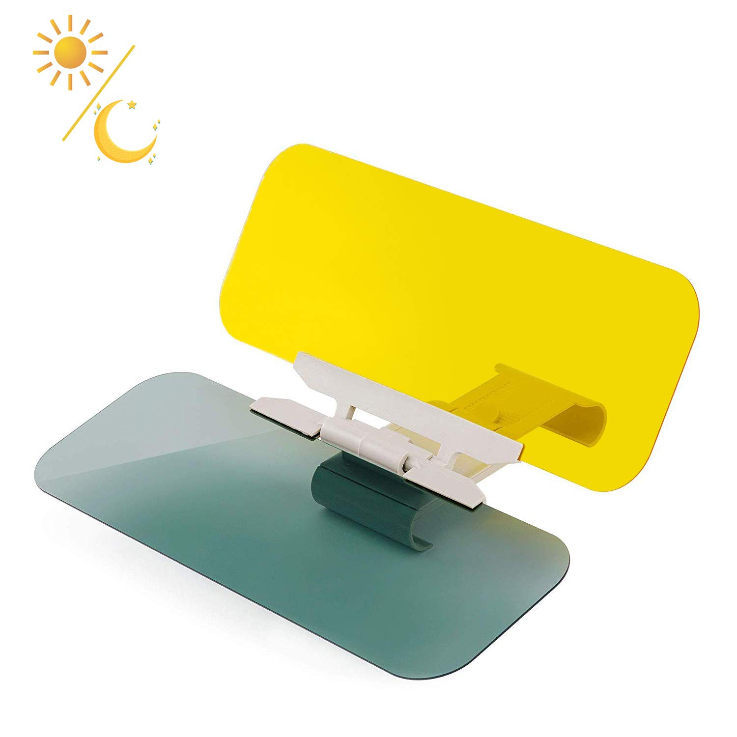 ZEPST Car Sun Visor Extender, Day and Night Vision Anti-Dazzle Driving Sunvisor, 2 in 1 Anti-Glare Car Visor Extension, Automobile Sun Visor Car Windshield Sun Blocker for Driving