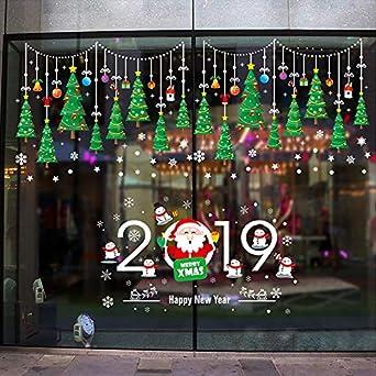 Decorar Tienda Para Navidad.Pegatinas De Navidad Para Ventanas Pegatina De Munecos De Nieve 2019 Decoracion De Navidad Decoracion De Decal De Copo De Nieve De Ventana Para