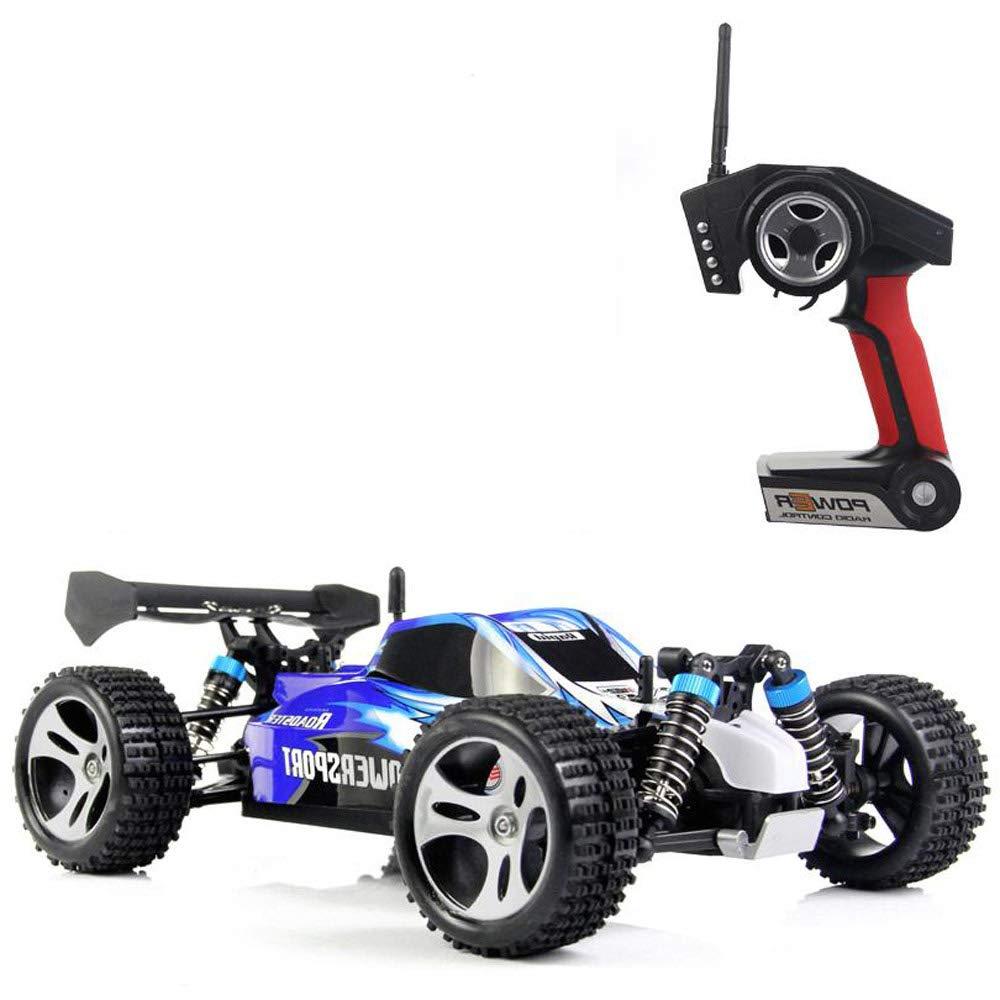 Pinjeer 45KM / H高速電気Rc車1/18 2.4Ghz 4WDリモートコントロールカーオフロードレーシングカーRcモンスタートラック教育玩具ギフト14+ (Color : Blue, サイズ : 2-Battery) B07R33DWXC Blue 2-Battery