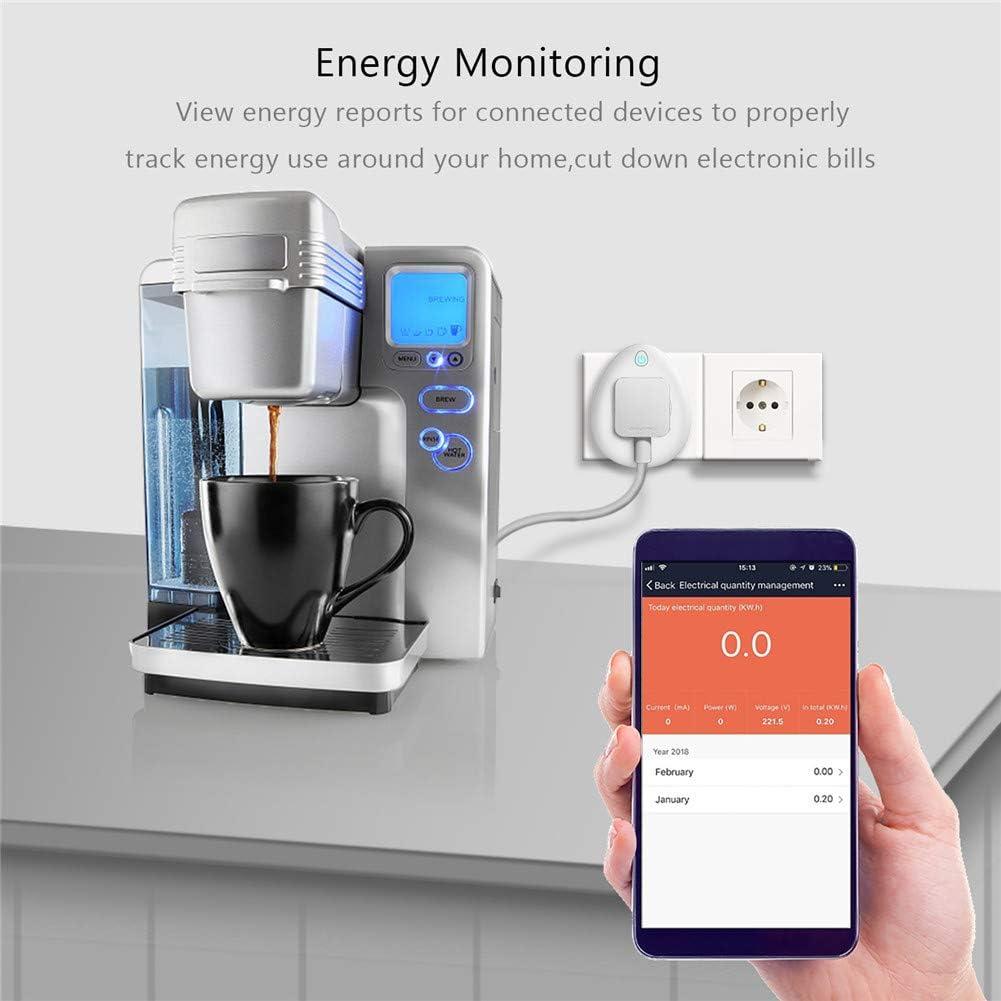 Mini Enchufe Inteligente, Salida WiFi con monitoreo de energía, Funciona con Alexa, Google Home e IFTTT, Control Remoto Desde Cualquier Lugar con función de Temporizador,EU: Amazon.es: Hogar