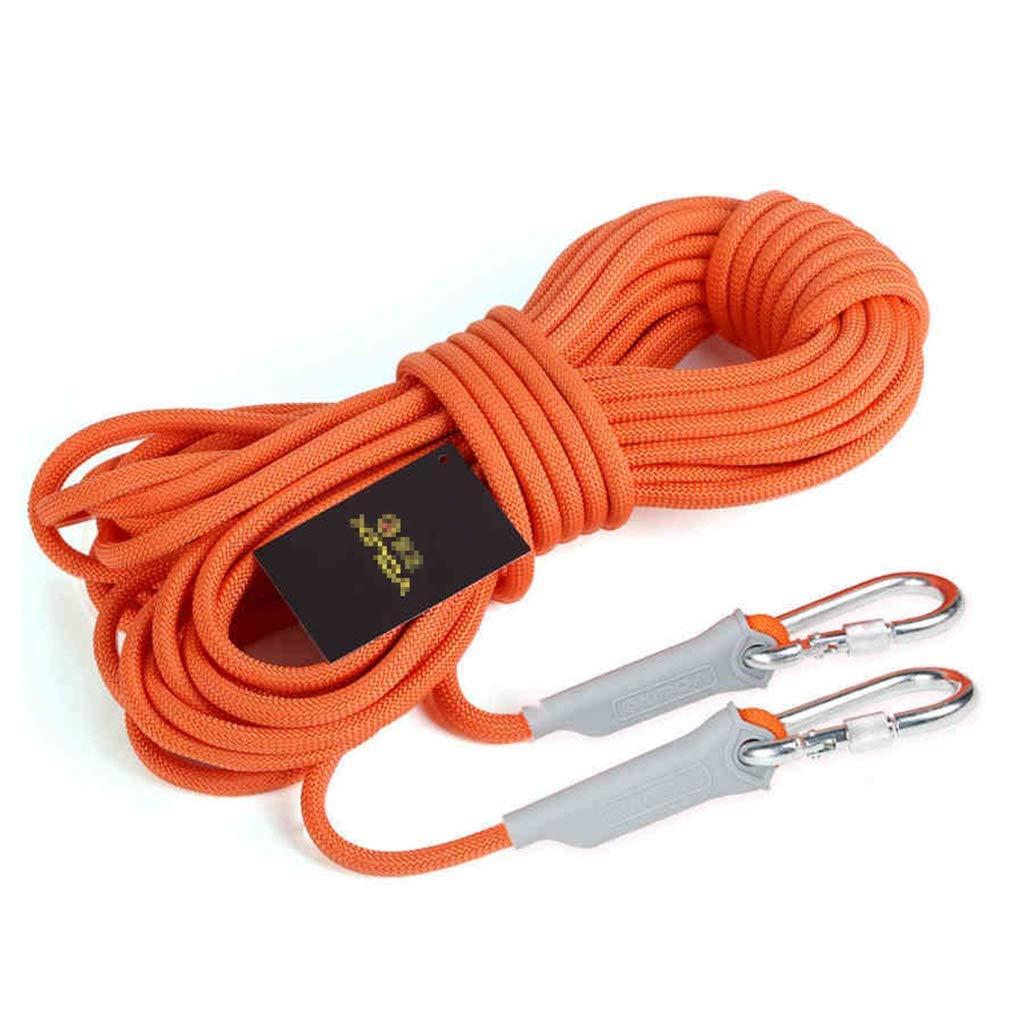 YYHSND Corde à Grimper adaptée au Camping Escalade plongée diamètre 6 8   9.5   12mm Orange Corde d'alpinisme (Taille   6mm 30m) 6mm 10m