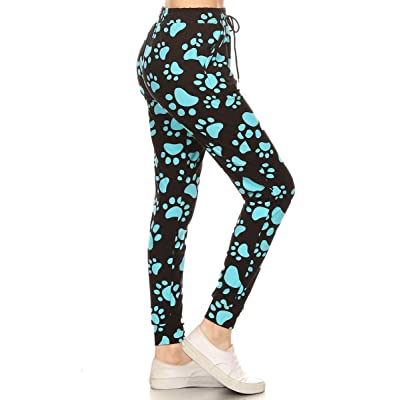 Leggings Depot Premium Women's Joggers Popular Print High Waist Track Pants(S-XL) BAT3 at Women's Clothing store