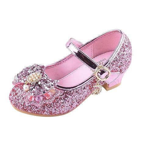 3361e84edc88b Amazon.com: Sparkle Princess Shoes for Girls Sequin Bowknot Sparkle ...