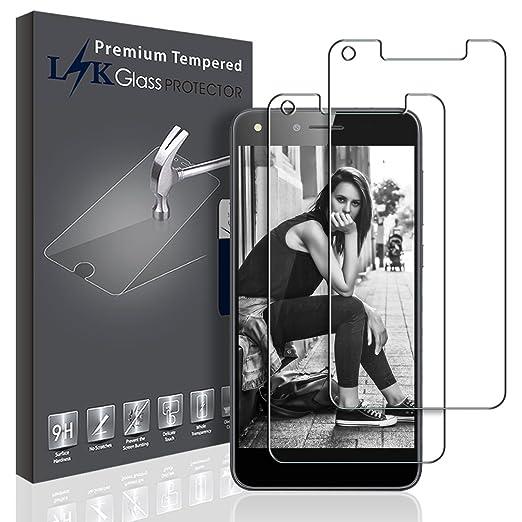9 opinioni per [2 Pack] Huawei Y6 II Compact Pellicola Protettiva, LK Protezione Schermo Vetro