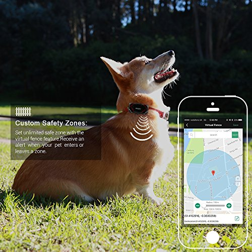 PABY Pet Tracker, 3G GPS Pet Tracker & Activity Monitor Dogs Cats Smart WIFI Virtual Fence Rechargeable Waterproof Tracker Pet Safe Wireless Fence Pet Finder Android/iPhone by PABY (Image #9)