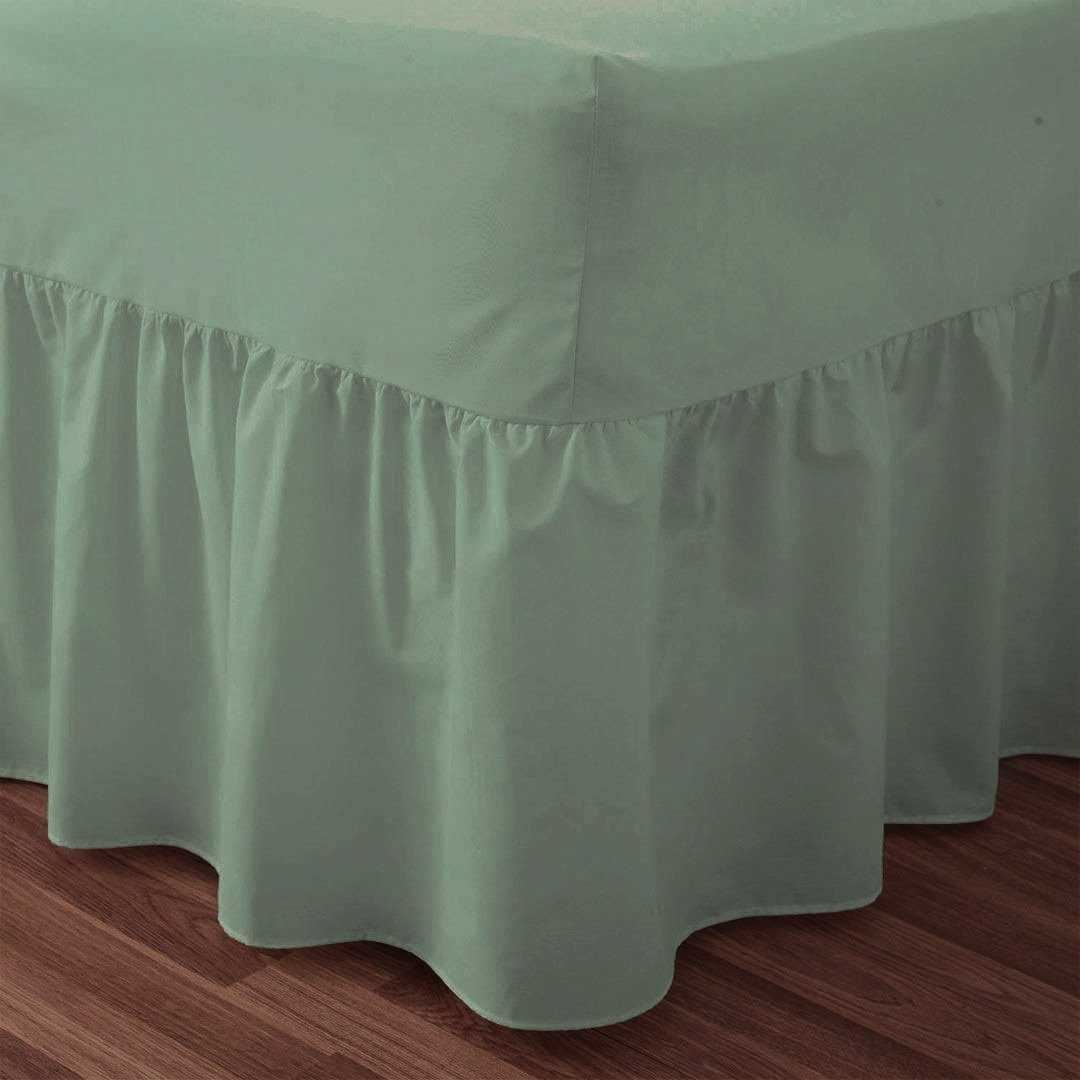 Love2Sleep EGYPTIAN COTTON HOTEL QUALITY VALANCE SHEET SAGE GREEN – 4FT SMALL DOUBLE BED SIZE SleepyNights