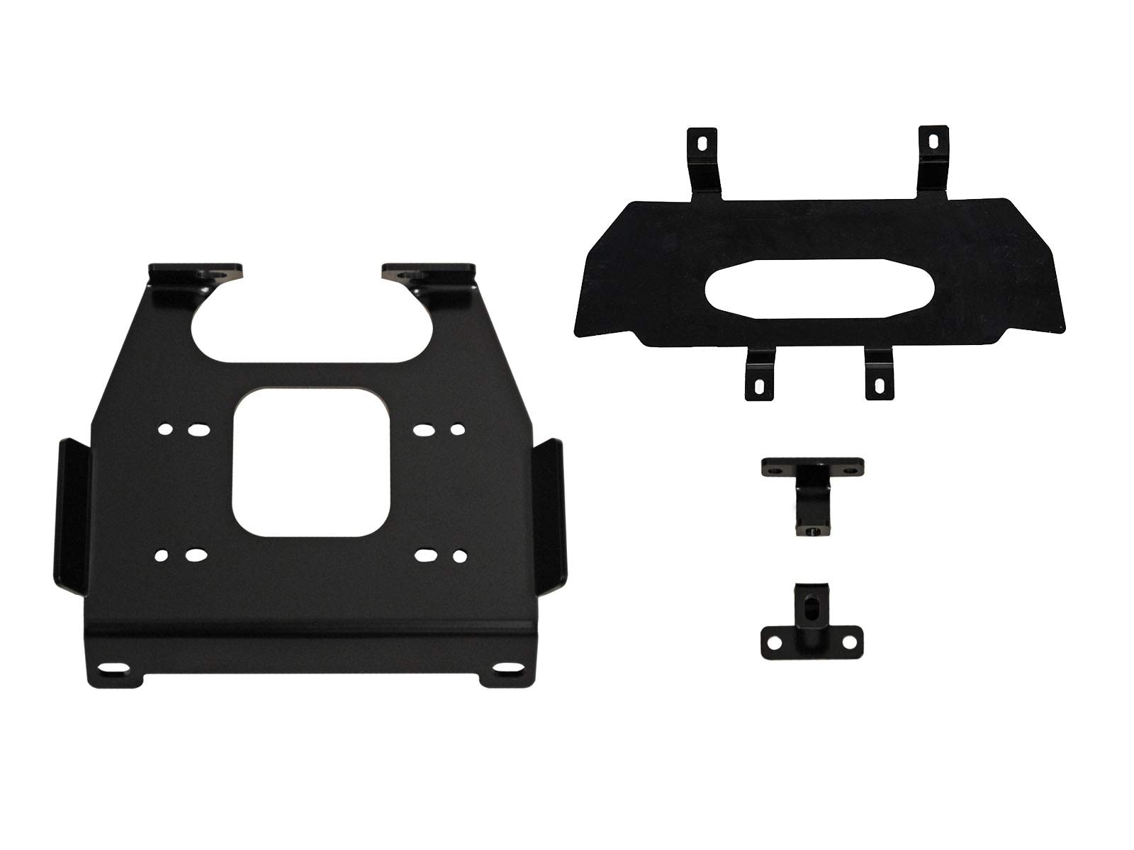 SuperATV Heavy Duty Winch Mounting Plate for Polaris RZR XP 1000/4 1000 (2019+) - Dual Mounting Bolt Patterns