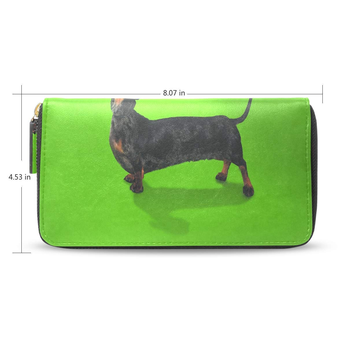 Clutch Wallet Bag Funny Galaxy Wolf Long s Zipper Around ...