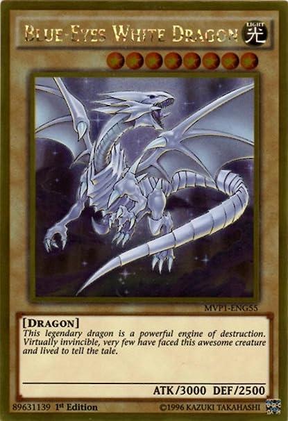 amazon com yu gi oh blue eyes white dragon mvp1 eng55 the