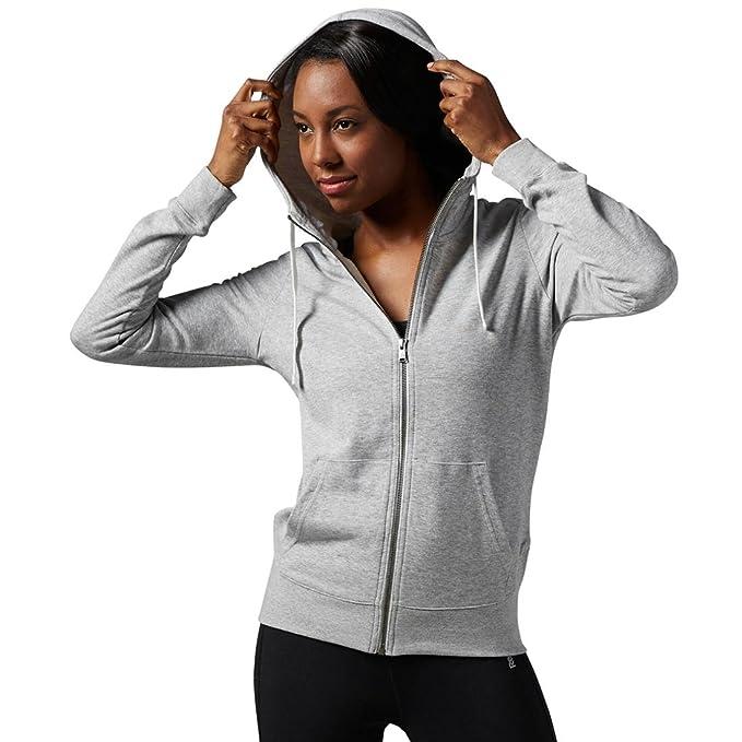 10f32bc1d5 Amazon.com: Reebok Women's Elements FT Full Zip Hoodie: Clothing