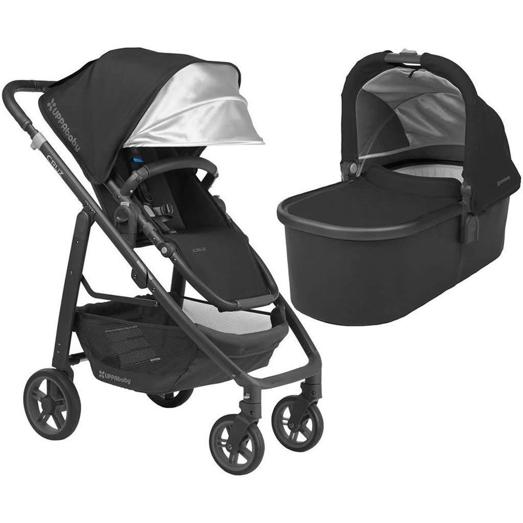UPPAbaby Full-Size Cruz Infant Baby Stroller Bassinet Bundle Jake