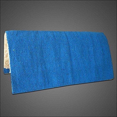HILASON Made in USA Western Acrylic Wool Felt Rodeo Saddle PAD Blanket Blue