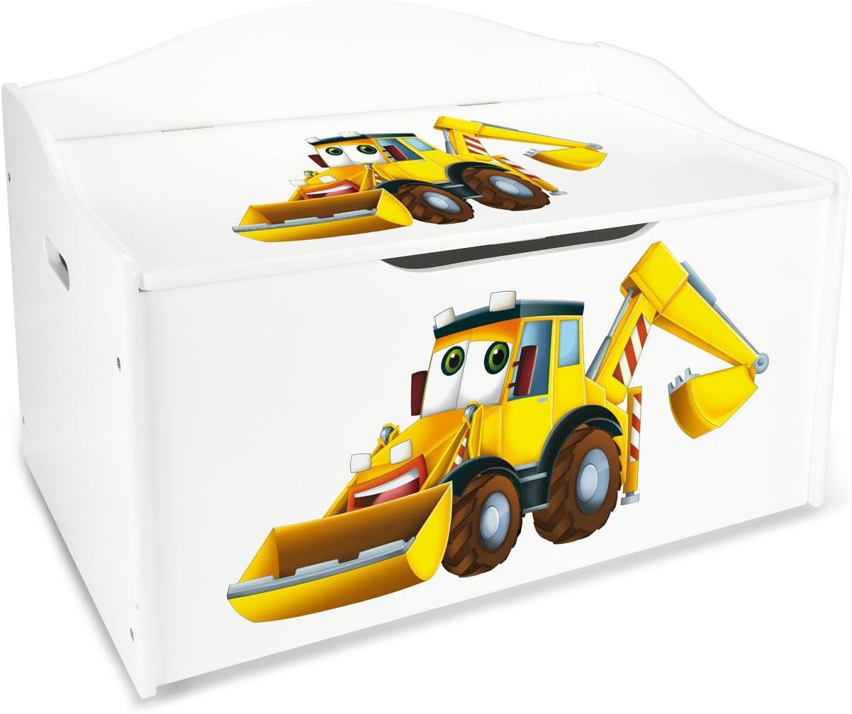 Dim: 71 cm x 40.5 cm x 45 cm//WxDxH// Coj/ín Ba/úl de juguetes sobre ruedas LEOMARK Blanco Caja de madera banco XXL con almacenamiento para juguetes con Asiento Almohada