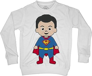 Sweat Shirt Enfant Bebe Superman Dessin Mignon Fabulous Wolrd Amazon Fr Vetements Et Accessoires