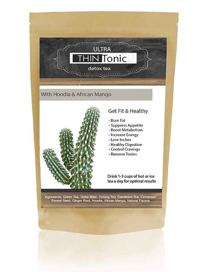 Amazon Com Ultra Thintonic Detox Tea With Hoodia African Mango