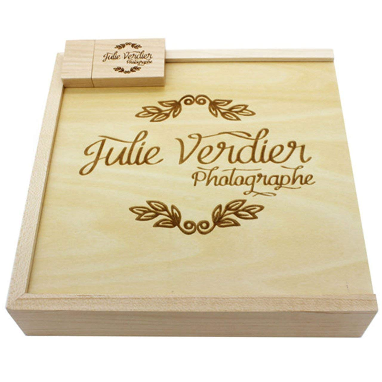 Maple Fleece Wooden Photo Album USB Flash Drive Exquisite Memorable Wedding Photography Gifts Personalized Custom by NeanTak-us