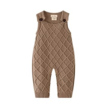 76e56e9f4ee6 Auro Mesa Newborn Baby Knit Overalls Romper, Toddler Little boy Photography  Outfits 3 6 9