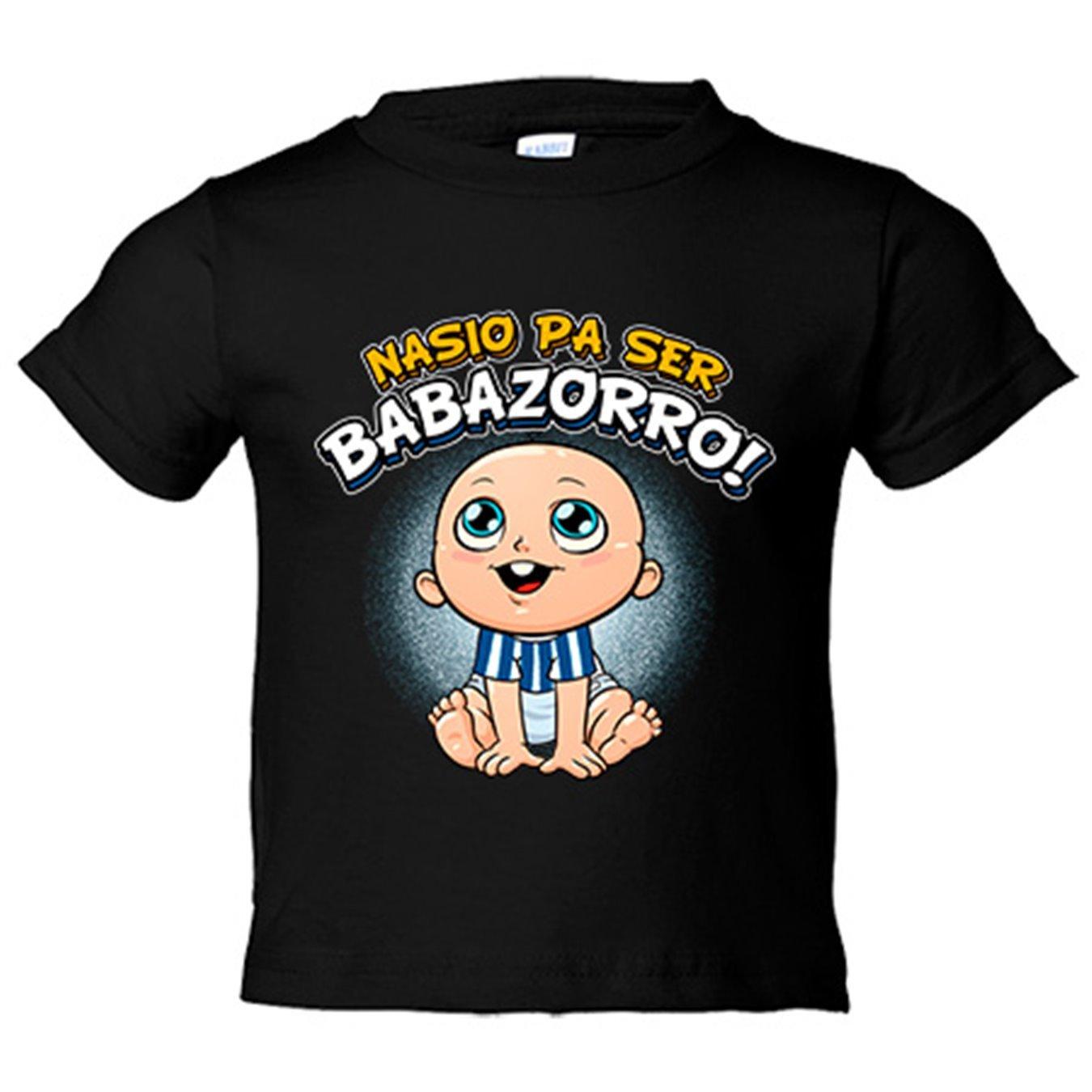 Camiseta niño nacido para ser Babazorro Alavés fútbol - Azul Royal, 3-4 años: Amazon.es: Bebé