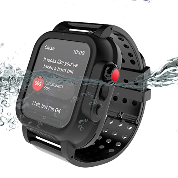 cheap for discount 8af48 079cf Amazon.com: Compatible with iwatch Series 4 44mm Waterproof Case ...