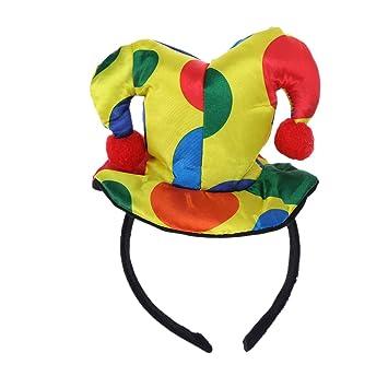 Polka Dot Clown Hat Headband Circus Jester Hairband Costume Accessories