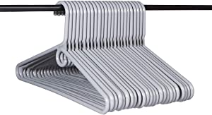 Neaties American Made Gray Super Heavy Duty Plastic Hangers, Plastic Clothes Hangers Ideal for Everyday Use, Clothing Standard Hangers, 24pk