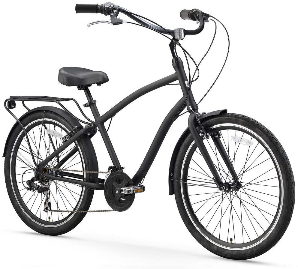 best hybrid bikes under 1000: Sixthreezero EVRYjourney Men's Single Speed Hybrid Cruiser