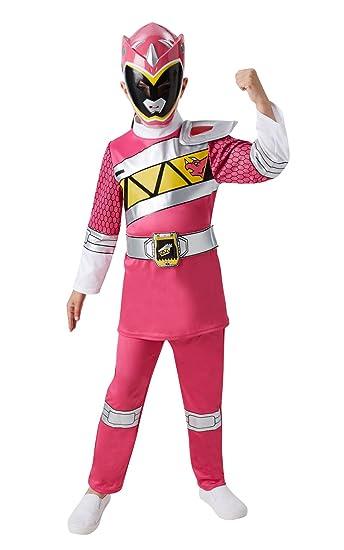 Rubies Disfraz oficial Power Rangers para niño en color rosa de tamaño mediano
