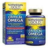 norwegian fish oil - Norwegian Gold - Critical Omega - Omega 3 oil supplement - 60 softgel capsules - Renew Life brand