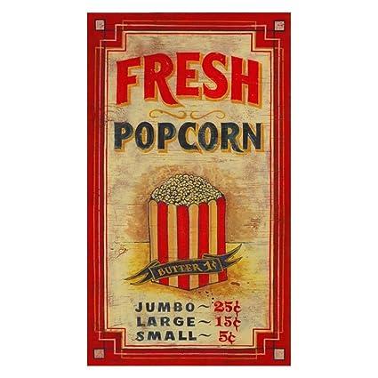 Amazon.com: Popcorn Wall Art: Outdoor Plaques: Posters & Prints