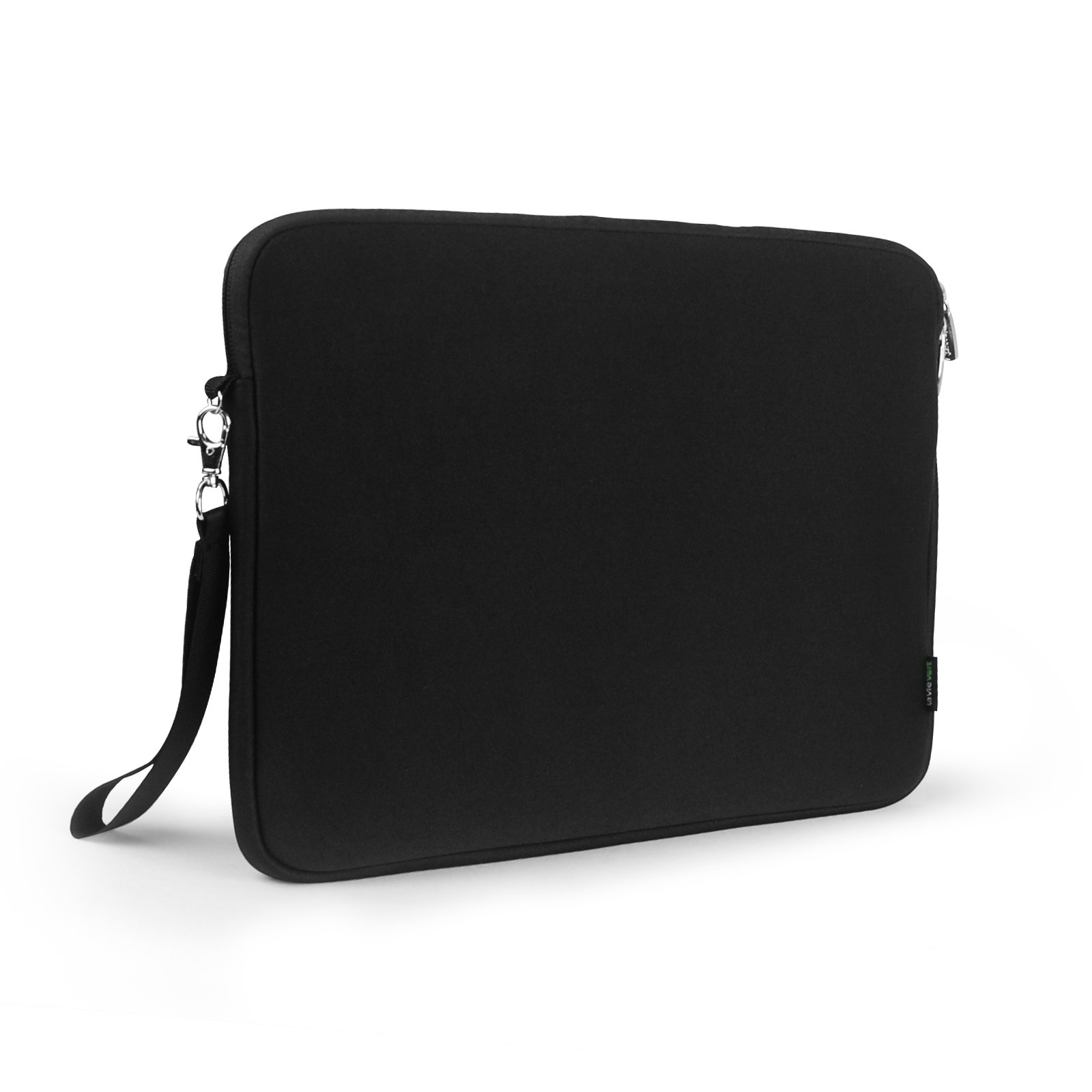 Lavievert Soft Neoprene(Water Resistance) Sleeve Simple and Elegant Case Bag Cover for Apple 15 inch MacBook Retina Pro, 15 inch MacBook Pro and Most Popular 15-15.6 Inch Laptops– Black